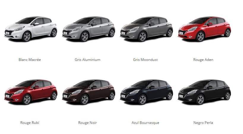 Plan de Ahorro Peugeot 208 Active Colores Disponibles