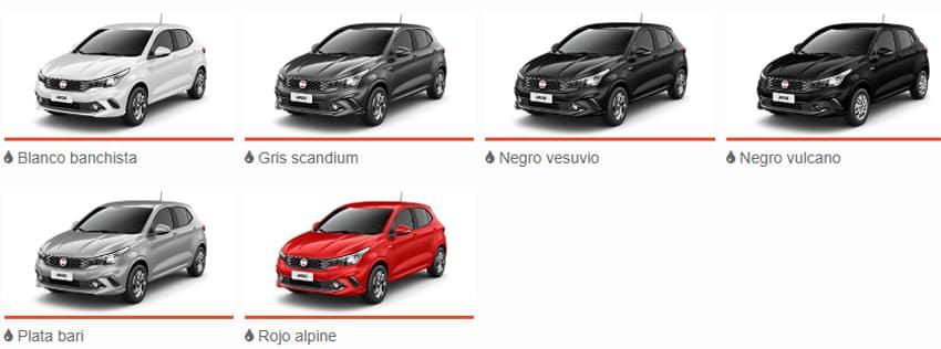 Plan de Ahorro FIAT ARGO Colores Disponibles
