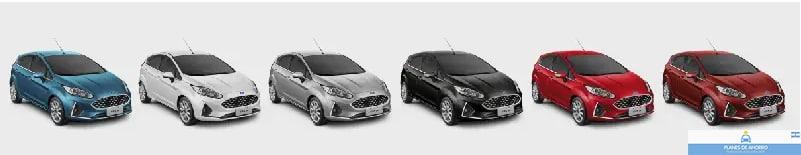 Colores disponibles Ford Fiesta Plan Nacional Ford, Plan Ovalo, autos en cuotas.