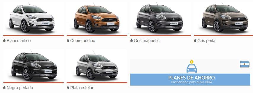 Colores disponibles Ford Ka Freestyle Plan Nacional Ford, autos en cuotas.
